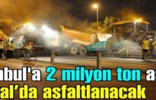 İstanbul'a 2 milyon ton asfalt dökülecek. Kartal...