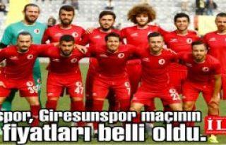 Kartalspor, Giresunspor maçının bilet fiyatları...