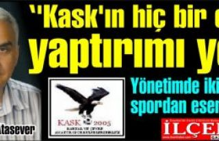 Selahattin Atasever ''Kask'ın hiç bir etkin yaptırımı...