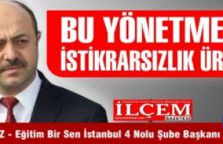 Talat Yavuz ''BU YÖNETMELİK İSTİKRARSIZLIK ÜRETİR!''