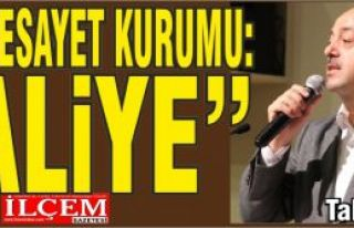 "Talat YAVUZ ""Yeni Vesayet Kurumu: Maliye"""