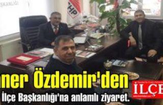 Taner Özdemir'den CHP İlçe Başkanlığı'na anlamlı...