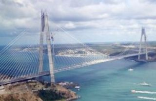 Yavuz Sultan Selim Köprüsü görkemli bir şekilde...