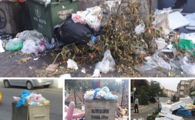 Yine CHP'li Belediye, yine çöp dağları dedirtti Maltepe.