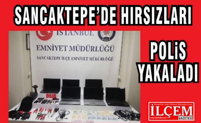 Sancaktepe'de hırsızları polis yakaladı.