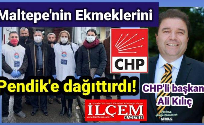 CHP'li başkan Ali Kılıç, Maltepe'nin ekmeklerini Pendik'e dağıttırdı!