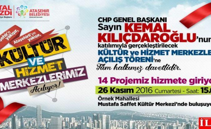 Ataşehir Belediyesi'nden 14 süper açılış.