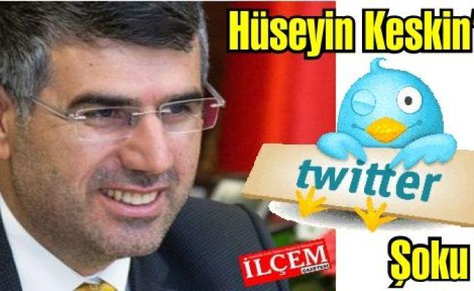 Hüseyin Keskin'in Twitter hesabı hecklendi.