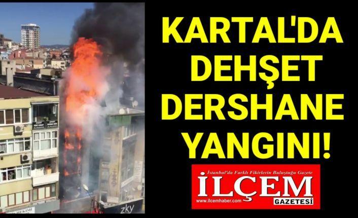Kartal'da dehşet dolu dershane yangını.