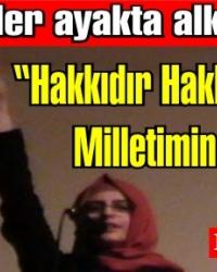 Genç Öğrenci Rümeysa Öztürk İstiklal Marşını okudu, ayakta alkışlandı
